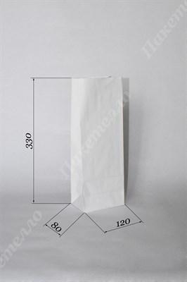 Крафт пакет 120х80х330мм без ручек, белый - фото 4543