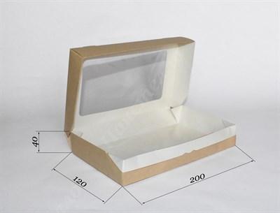 Коробка с окном - 200х120х40 мм - фото 4610