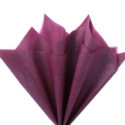 Бумага тишью, бордовая 51х66см (10 листов) - фото 4869