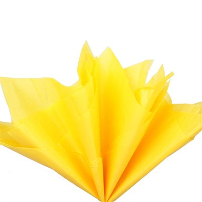 Бумага тишью, ярко-желтая 51х66см (10 листов) - фото 4873