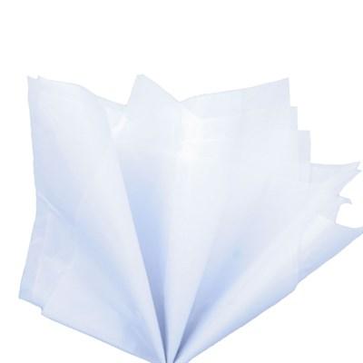 Бумага тишью, белая 51х66см (10 листов) - фото 4876