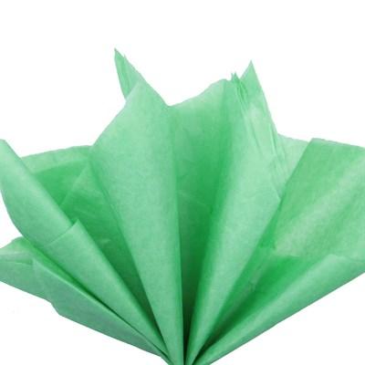 Бумага тишью, светло-зеленая 51х66см (10 листов) - фото 4885