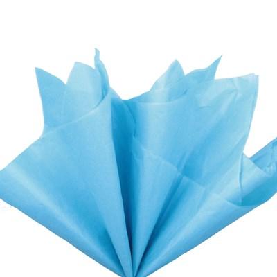 Бумага тишью, ярко-голубая 51х66см (10 листов) - фото 4890
