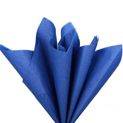 Бумага тишью, темно-синяя 51х66см (10 листов) - фото 4891