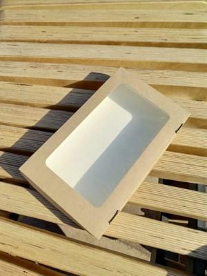 Крафт-коробка с окном 250х150х40мм - фото 4945