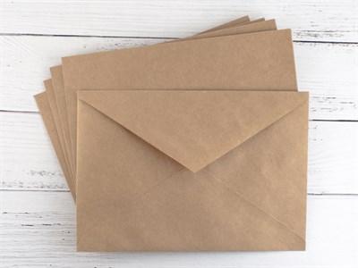 Конверт из крафт-бумаги (С6), 114х162мм - фото 5013