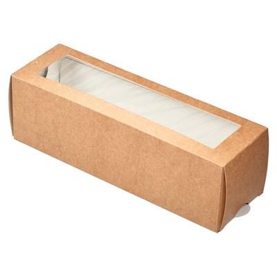 Коробка-пенал с окном 180х55х55мм - фото 5099