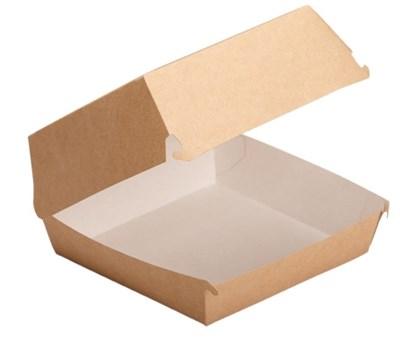 """Коробка для бургера """"L"""" 120/140х120/140х70мм - фото 5229"""