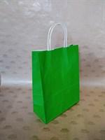 Крафт-пакет 250х110х320мм с кручеными ручками, зеленый