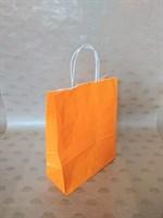 Крафт-пакет 250х110х320мм с кручеными ручками, оранжевый