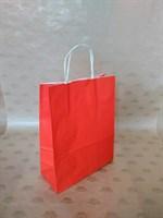 Крафт-пакет 250х110х320мм с кручеными ручками, красный