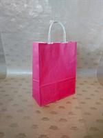 Крафт-пакет 250х110х320мм с кручеными ручками, розовый