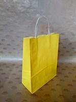 Крафт-пакет 250х110х320мм с кручеными ручками, желтый
