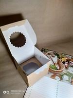 Крафт коробка для 1 капкейка