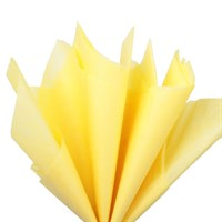 Бумага тишью, желтая 51х66см (10 листов)