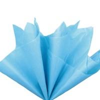 Бумага тишью, ярко-голубая 51х66см (10 листов)