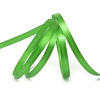 Атласная лента, 6мм*30м, зеленая