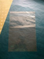 Прозрачный пакет с клеевой полосой, 23х30см