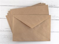 Конверт из крафт-бумаги (С6), 114х162мм