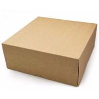 """Крафт-коробка """"Cake"""" - 255х255х105мм, без окна"""