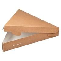 Треугольная крафт упаковка для пирога/пиццы, 220х200х40мм