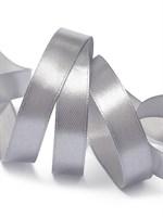 Атласная лента, 12мм*23м, серебро
