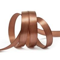 Атласная лента, 12мм*23м, коричневая
