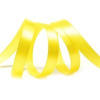 Атласная лента, 12мм*23м, ярко-желтая