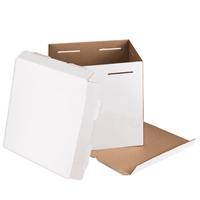 Коробка для торта, 240х240х220мм, Белая