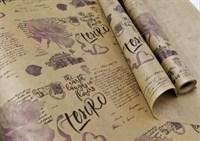 """Крафт бумага с рисунком """"Эстер Сиреневый"""" 0,72х10м, 40г/м."""