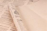 """Крафт бумага с рисунком """"Винтажная газета серый"""" 0.72Х10м, 40г/м."""