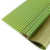 """Крафт бумага с рисунком """"Полоски светло-зеленые""""0.72Х10м, 40г/м."""