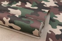 """Крафт бумага с рисунком""""Камуфляж лес"""" 0,72х10м,70г/м."""