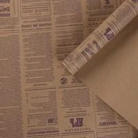 """Крафт бумага с рисунком""""Губернские вести Фиолетовый""""0,72х10м, 70г/м."""