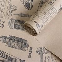 "Крафт бумага с рисунком""Британия""0,72х10м, 70г/м."