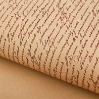 "Крафт бумага с рисунком""Письмо коричневый""0,72х10м, 70г/м."
