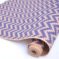 """Крафт бумага с рисунком """"Волны кубики синие""""0,72х10м, 70г/м."""
