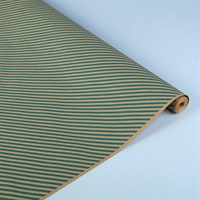 """Крафт бумага с рисунком """"Диагональ голубая""""0,72х10м, 70г/м."""