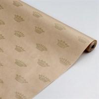 """Крафт бумага с рисунком""""Корона""""0,72х10м, 70г/м."""
