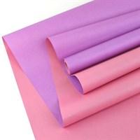 """Крафт бумага """"Св.Розовый/Св.Фиолетовый""""0,72х10м, 50г/м."""