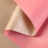 """Крафт бумага""""Розовый/Золото"""" 0,72х10м, 50г/м."""