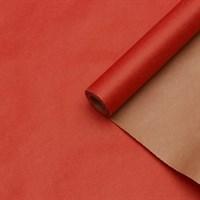Крафт бумага Красная 1 сторонняя 0,7х10м, 70г/м.