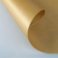 Крафт бумага Золотая 1 сторонняя 0,7х10м, 70г/м.