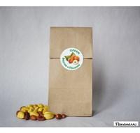 """Наклейка круглая """"Орехи, вкусно и полезно"""" 4,3 см."""