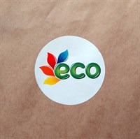 """Наклейка круглая, цветная """"Eco"""", 5см"""