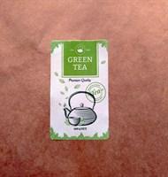 """Наклейка прямоугольная """"Green tea"""" (Зеленый чай), 3,5х6см"""