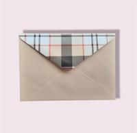 Подарочный бумажный конверт 114х162мм (С6) бежевый