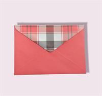 Подарочный бумажный конверт 114х162мм (С6) красный