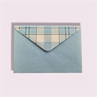 Подарочный бумажный конверт 114х162мм (С6) светло-голубой